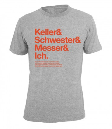 Ruffiction Crystal F T-Shirt Messer & Schwester grau