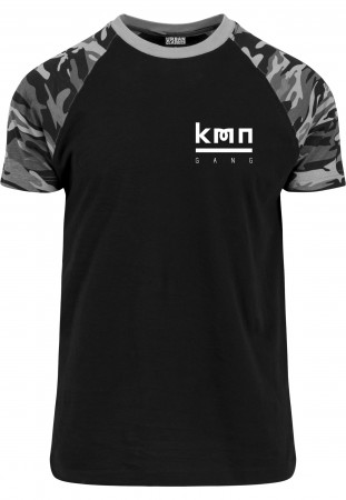 KMN Gang T-Shirt Logo Brust dark camo