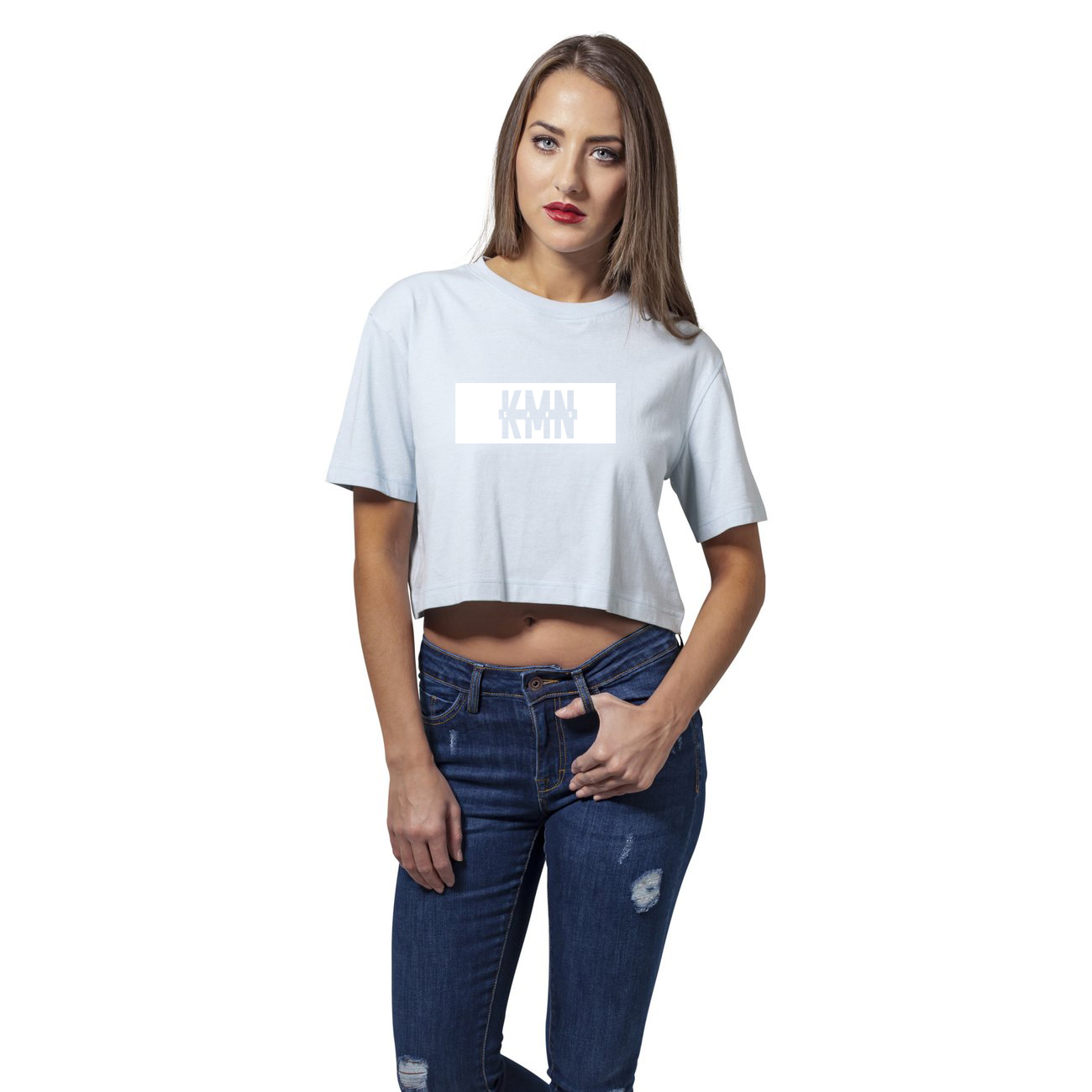 kmn gang ladies short t shirt hellblau 30 shop. Black Bedroom Furniture Sets. Home Design Ideas